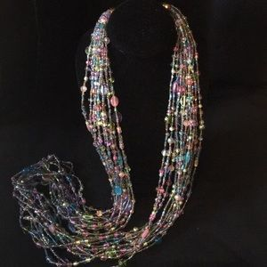 Joan Rivers Multicolor 12 Strand Bead Necklace